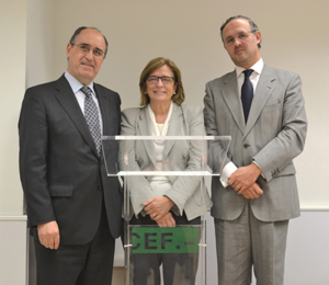 Roque de las Heras, Teresa Riera y José Andrés Sánchez Pedroche