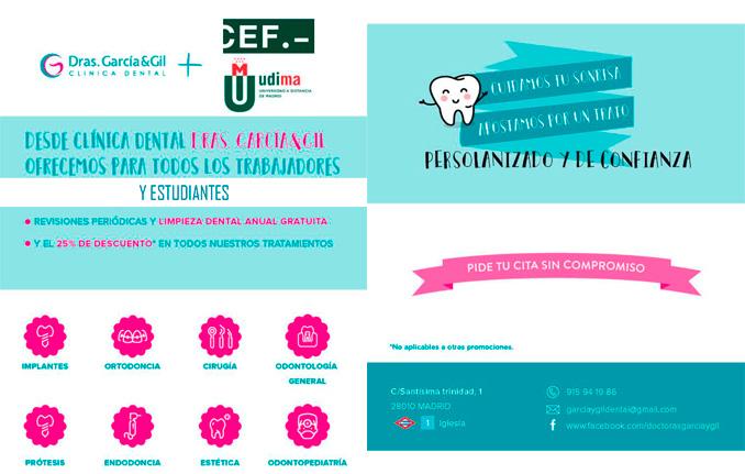 Acuerdo del Grupo CEF.- UDIMA con la clínica dental Dras. García & Gil