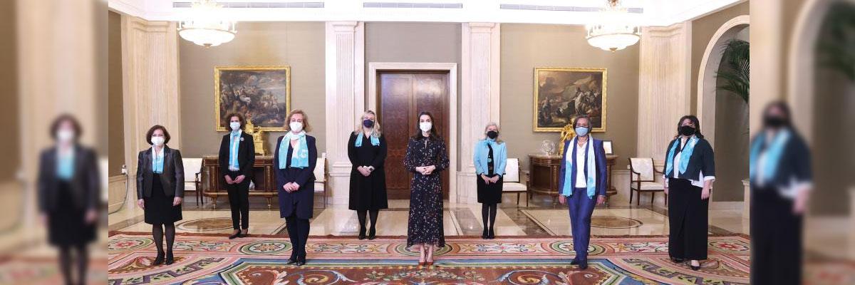 Arancha de la Heras traslada a la Reina la importancia de la educación en la sociedad