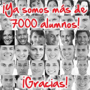 ¡Ya somos más de 7.000 alumnos!