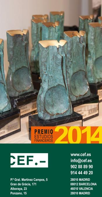 """Convocada la XXIV edición del Premio """"Estudios Financieros"""""""