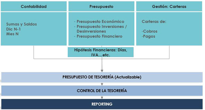 Cómo gestionar a través del presupuesto de tesorería