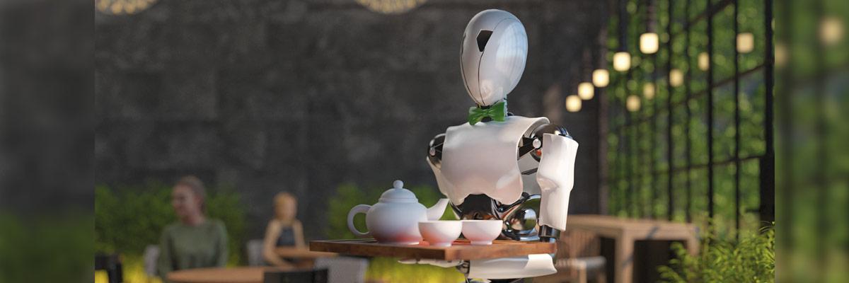 Robot trabajando de camarero