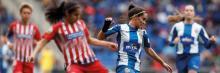 Jugadora del equipo femenino del R.C.D. Español Brenda Pérez Soler
