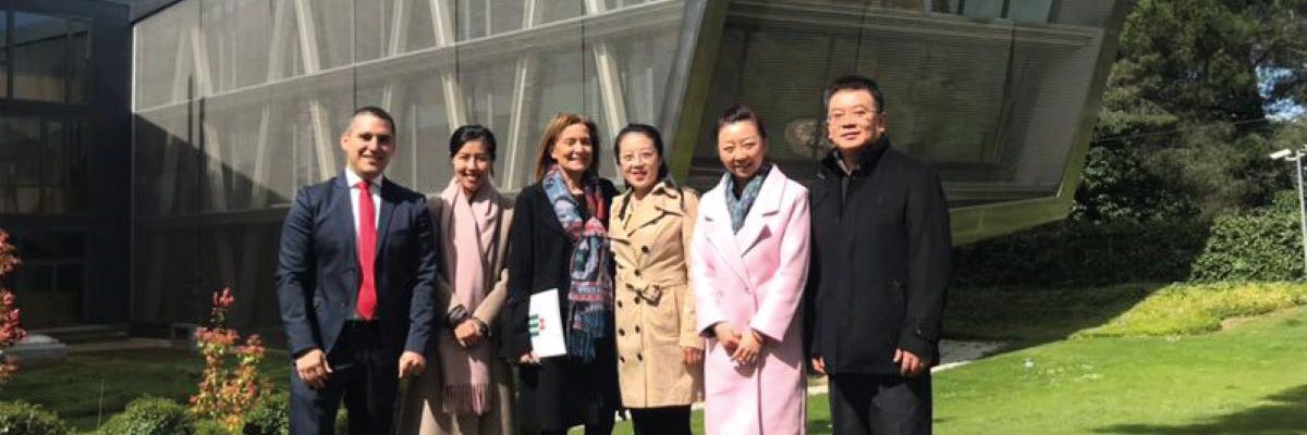 Delegación de universidades Chinas visitando el campus de la UDIMA
